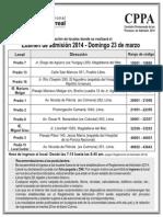 Relacion de Locales Admision 2014 5