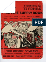 Kelsey Printers Supply Book 1946 1949 Text