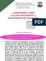 CLASE PARTICIPATIVA Y EVALUACIÓN