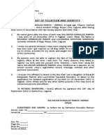Affidavit of Filiation