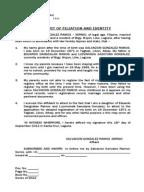 Affidavit Of Heirship
