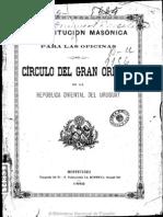 Constitucion Circulo GO Uruguay 1882