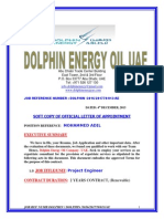 Dolphin Energy Limited Official Offer Letter.