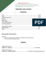 Sapa System Cenovnik