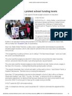 families teachers protest school funding levels
