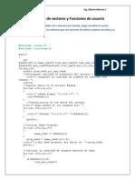 Resueltos Vectores y Funciones de Usuario