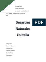 Desastres Naturales en Italia