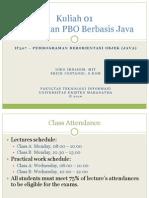 212_Kuliah 01 - Pengenalan Pemrograman Berorientasi Objek (Java)