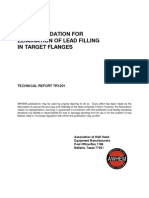 Recommendation for Elimination of Lead Filling in Target Flanges