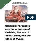 Maharishi Parashara JI