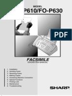 Manual Del Fax Sharp FOP610OM