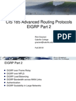 Cis185 ROUTE Lecture2 EIGRP Part2