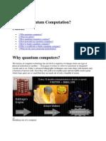 What is Quantum Computation
