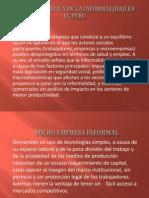 LA PROBLEMÁTICA DE LA INFORMALIDAD EN EL PERU