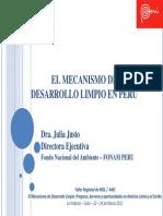 El mecanismo de desarrollo limpio en el Perú