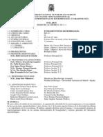 FUNDAMENTOS DE MICROBIOLOGÍA 2013-I Syllabus