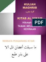 Kuliah Maghrib 11 OKTOBER