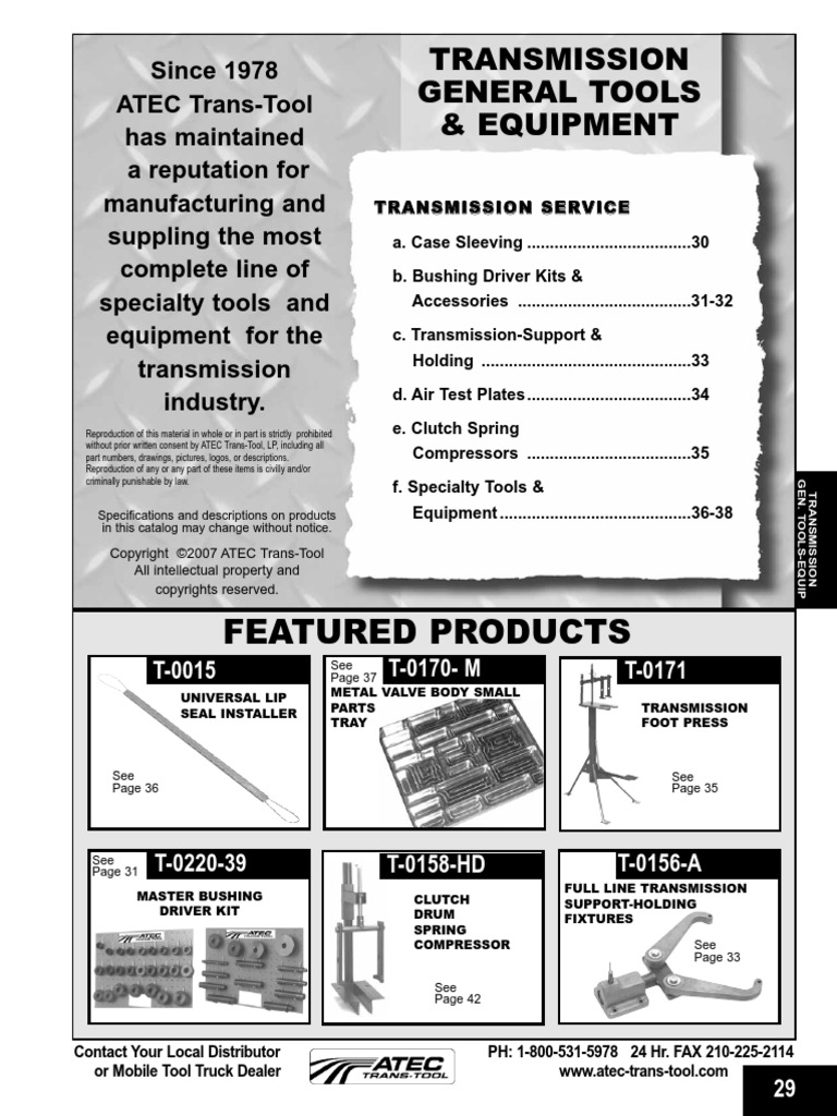 Att trans tools transmission mechanics clutch fandeluxe Images