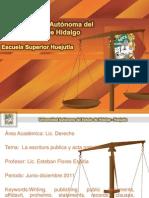 La Escritura Publica y Acta Notarial
