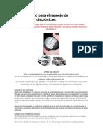 Guía de inicio para el manejo de automóviles sincrónicos