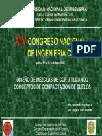 DISEÑO DE MEZCLAS DE CCR CONCEPTOS COMPACTACION SUELOS