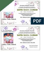 Undangan Nadia Zahrah