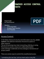 Access Control System via Bluetooth