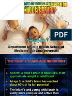 Lecture 16 the Important of Child Stimulation on Child Development