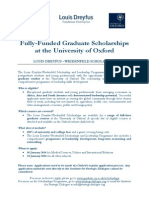 Scholarships University of Oxford