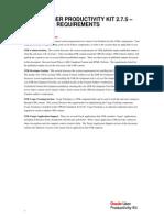 UPK Technical Requirements 2.7.5