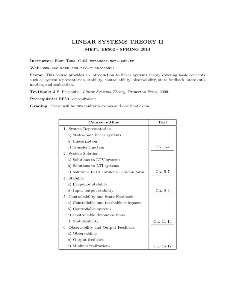 linear systems theory 2 rh scribd com