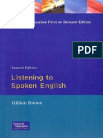 Gillian Brown - Listening to Spoken English