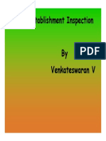Presentation on Special Establishment Inspection by Sh. Venkateswaran V