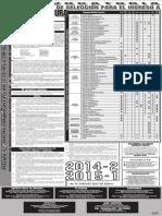 convocatoria seleccion 2014-2 2015-1