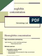 Hemoglobin Concentration