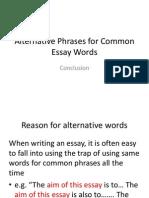 en406 slide alternative words-conclusion