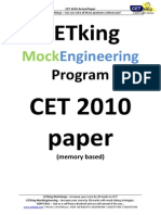 CET 2010 Actual Paper Revised 1.1