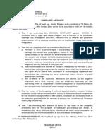 Complaint-Affidavit for Oral Defamation