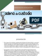 Cadena de Custodia Diapositivas