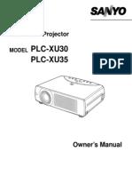 Sanyo Plc Xu35 User Manual