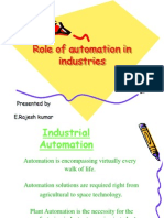 Role of Automation in Industries by Rajesh