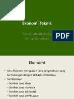 Ekonomi Teknik As