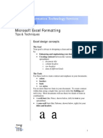 Excel Formatting Manual
