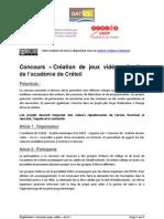 Reglement-ConcoursJeuxVideoAnII-Creteil_2009-2010_