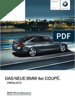 BMW 4er, 07:2013 - Preisliste