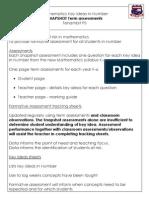 Maths SNAPSHOT Key Idea Term Assessments Info