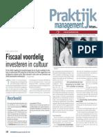 Fiscaal voordelig investeren in cultuur