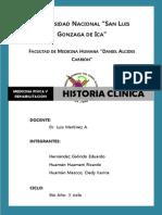 Historia Clinica Rehabilitacion II Unidad