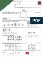 Tenambit PS Maths Key Ideas Ass Yr1 T3