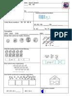 Tenambit PS Maths Key Ideas Ass Yr1 T4
